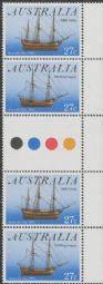 Australian Stamps SG 879a Australia Day pair colour control circle gutter vertical pair of 4 (AF1/406)